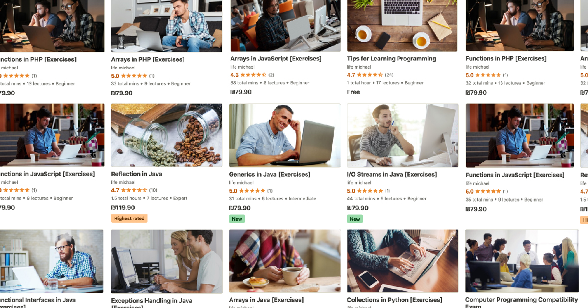 udemy courses banner
