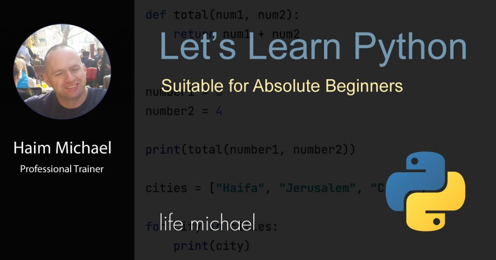 Let's Learn Python banner