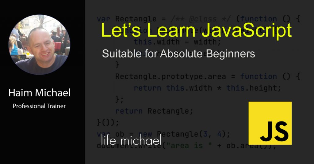 Let's Learn JavaScript Banner